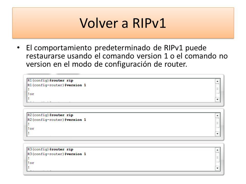 Volver a RIPv1