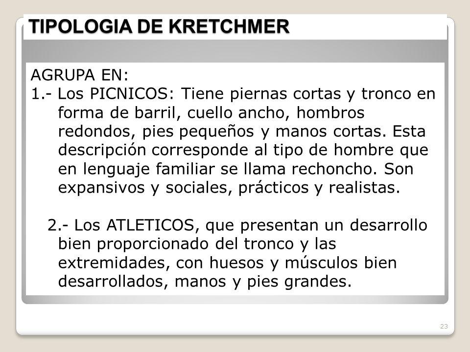 TIPOLOGIA DE KRETCHMER