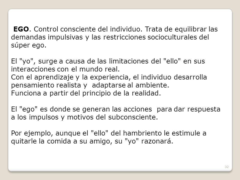 EGO. Control consciente del individuo