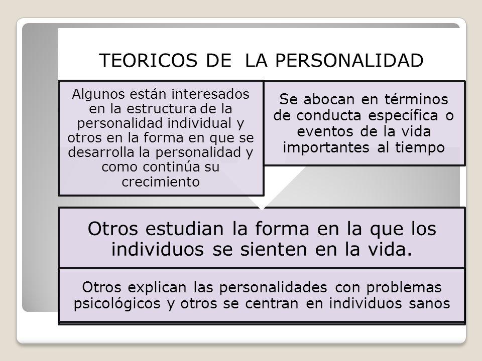 TEORICOS DE LA PERSONALIDAD