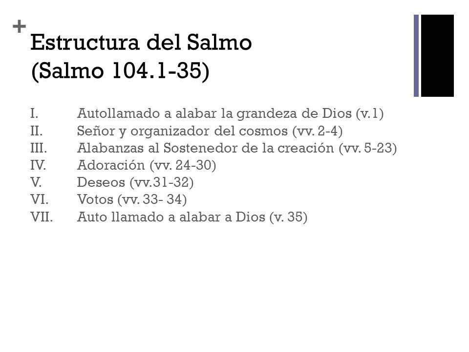 Estructura del Salmo (Salmo 104.1-35)