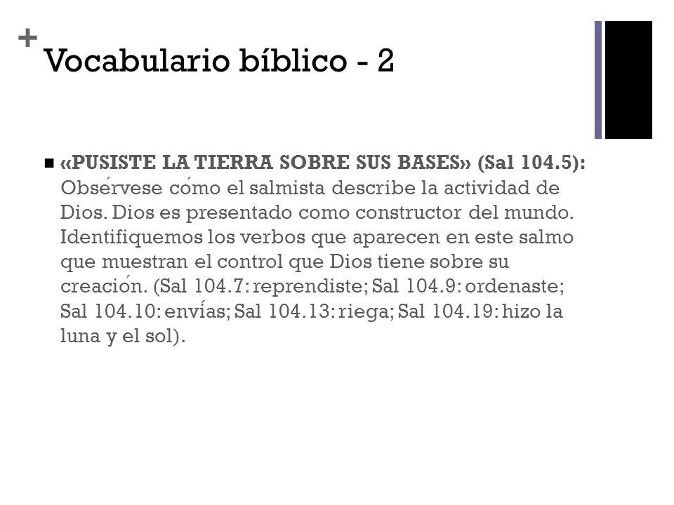 Vocabulario bíblico - 2
