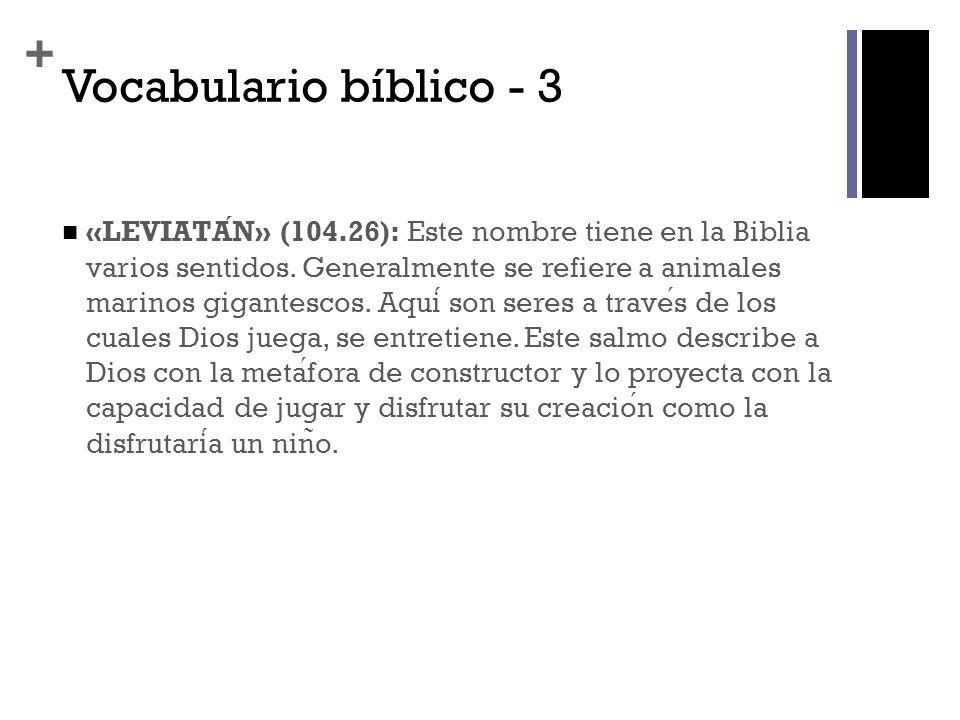 Vocabulario bíblico - 3