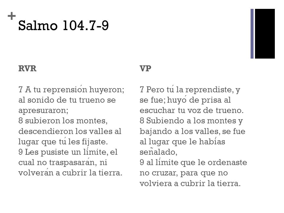 Salmo 104.7-9