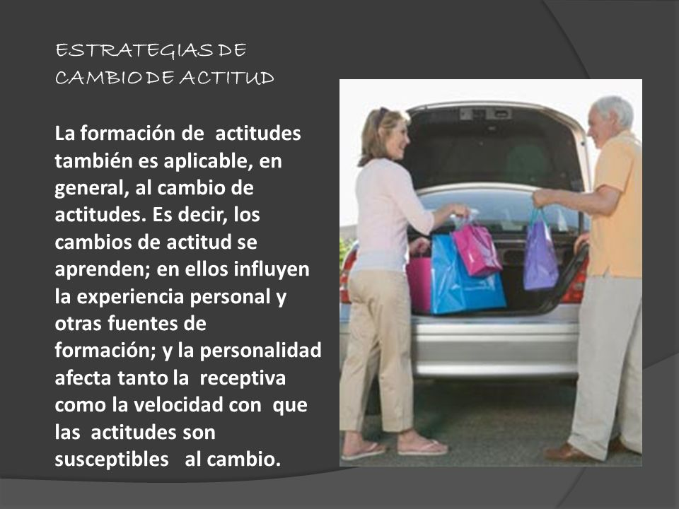 ESTRATEGIAS DE CAMBIO DE ACTITUD