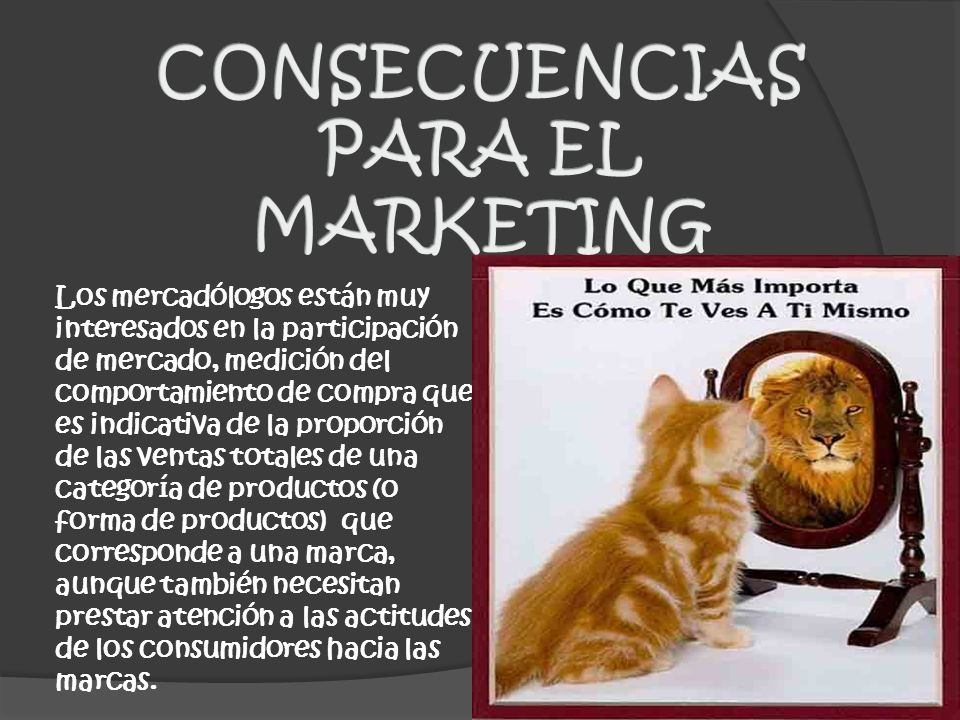 CONSECUENCIAS PARA EL MARKETING