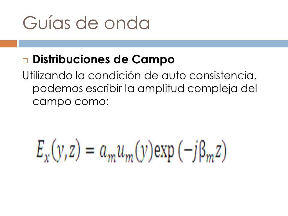 Guías de onda Distribuciones de Campo