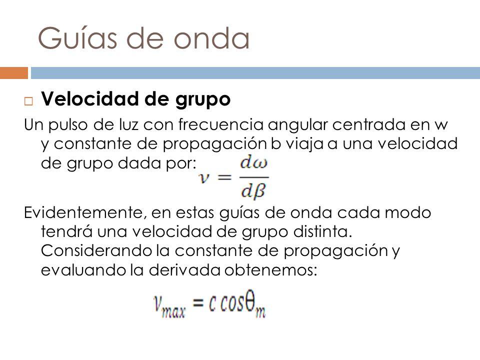 Guías de onda Velocidad de grupo