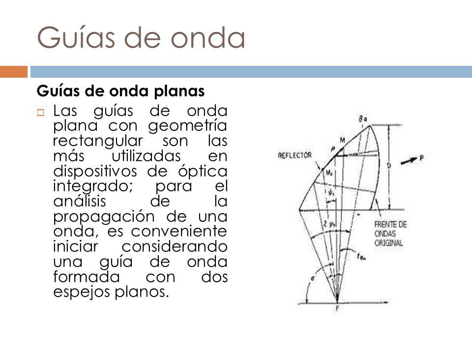 Guías de onda Guías de onda planas