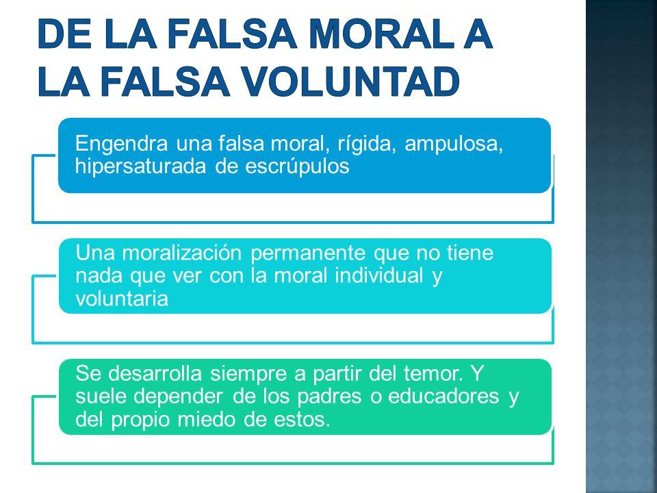 De la falsa moral a la falsa voluntad