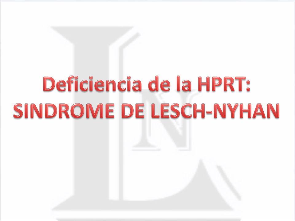 Deficiencia de la HPRT: SINDROME DE LESCH-NYHAN