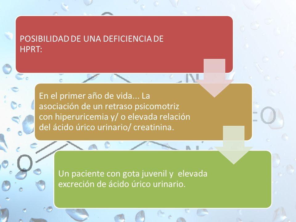 POSIBILIDAD DE UNA DEFICIENCIA DE HPRT: