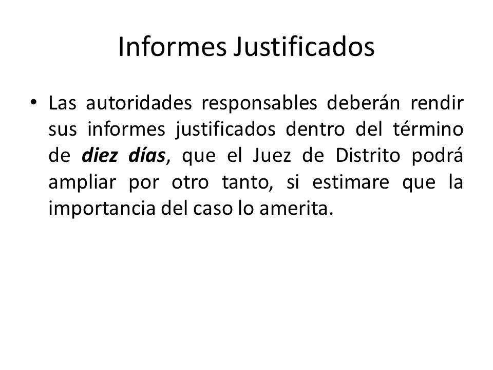 Informes Justificados