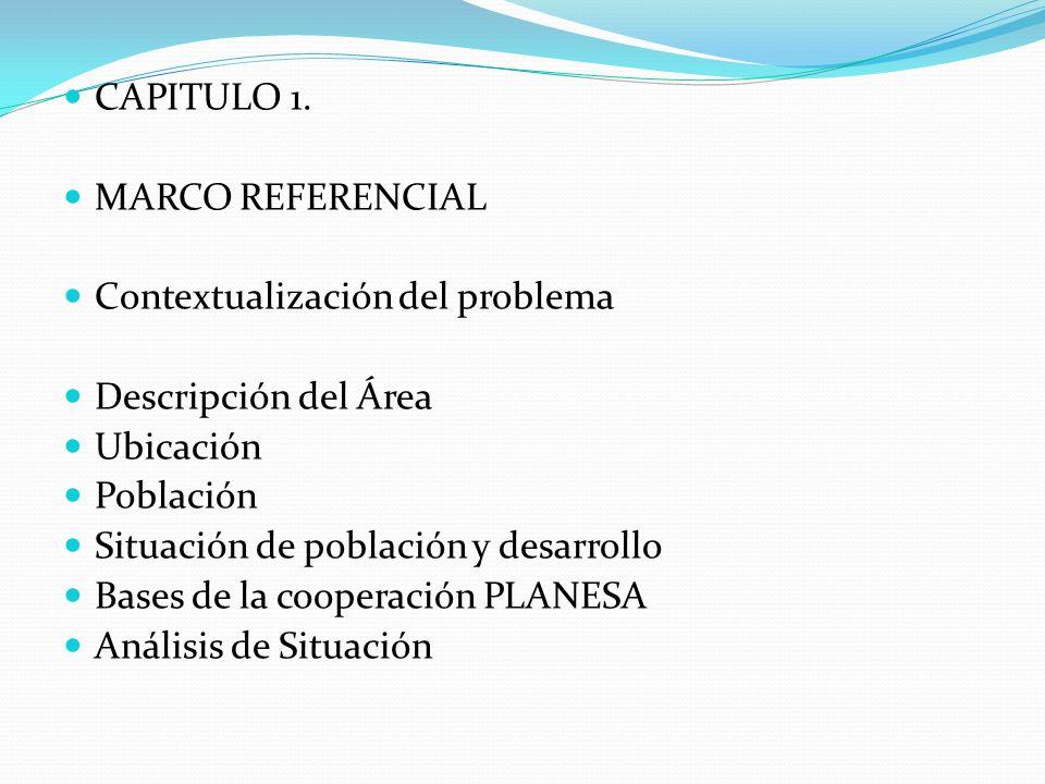 CAPITULO 1. MARCO REFERENCIAL. Contextualización del problema. Descripción del Área. Ubicación.