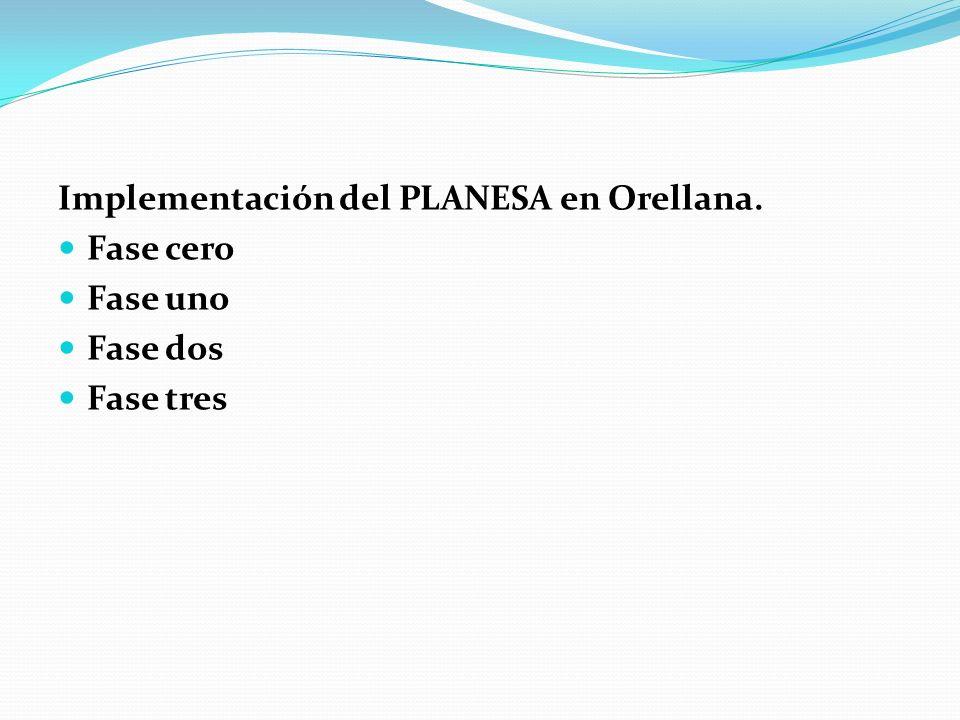 Implementación del PLANESA en Orellana.