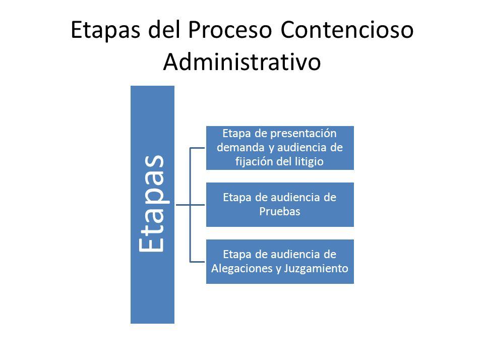 Etapas del Proceso Contencioso Administrativo