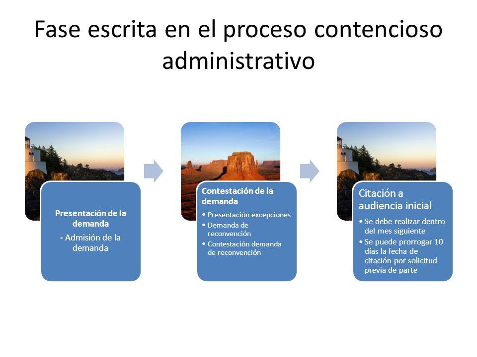 Fase escrita en el proceso contencioso administrativo
