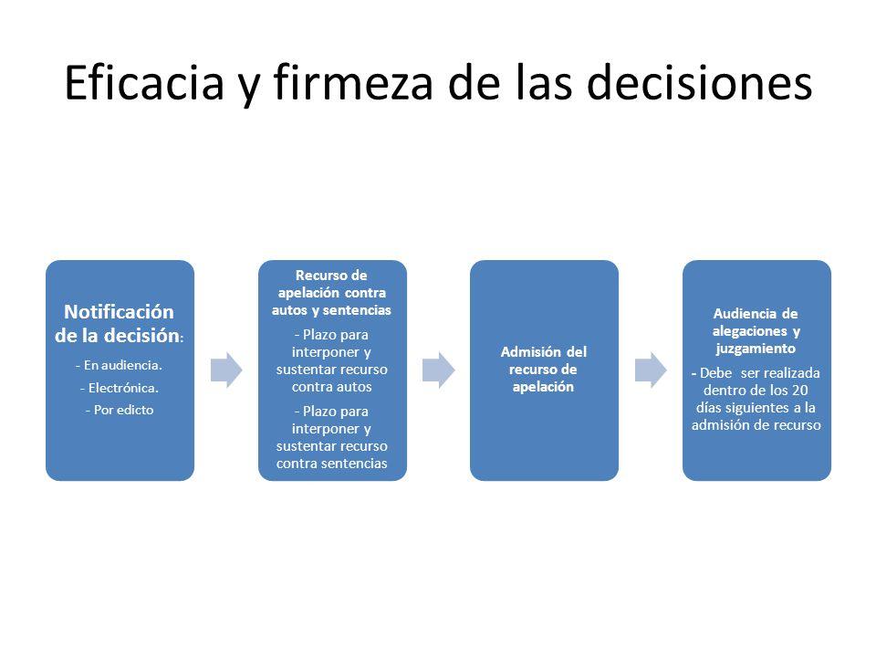 Eficacia y firmeza de las decisiones