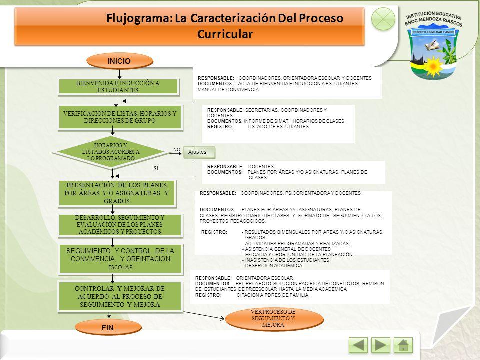 Flujograma: La Caracterización Del Proceso Curricular