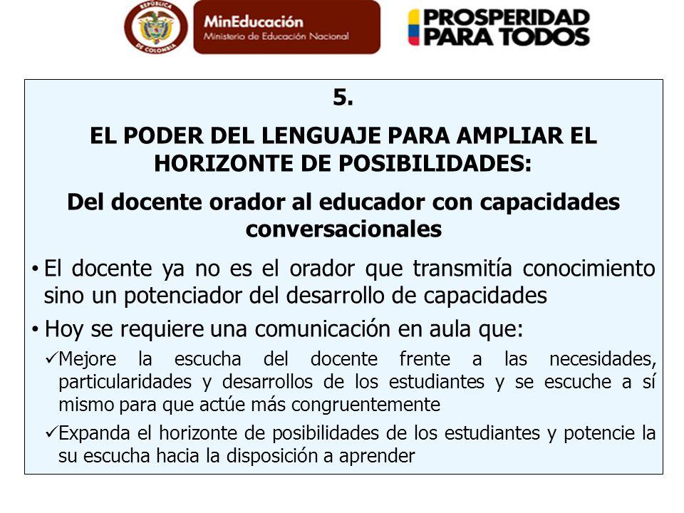 EL PODER DEL LENGUAJE PARA AMPLIAR EL HORIZONTE DE POSIBILIDADES: