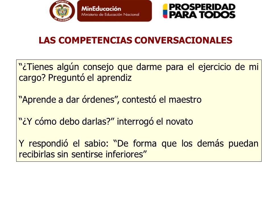 LAS COMPETENCIAS CONVERSACIONALES