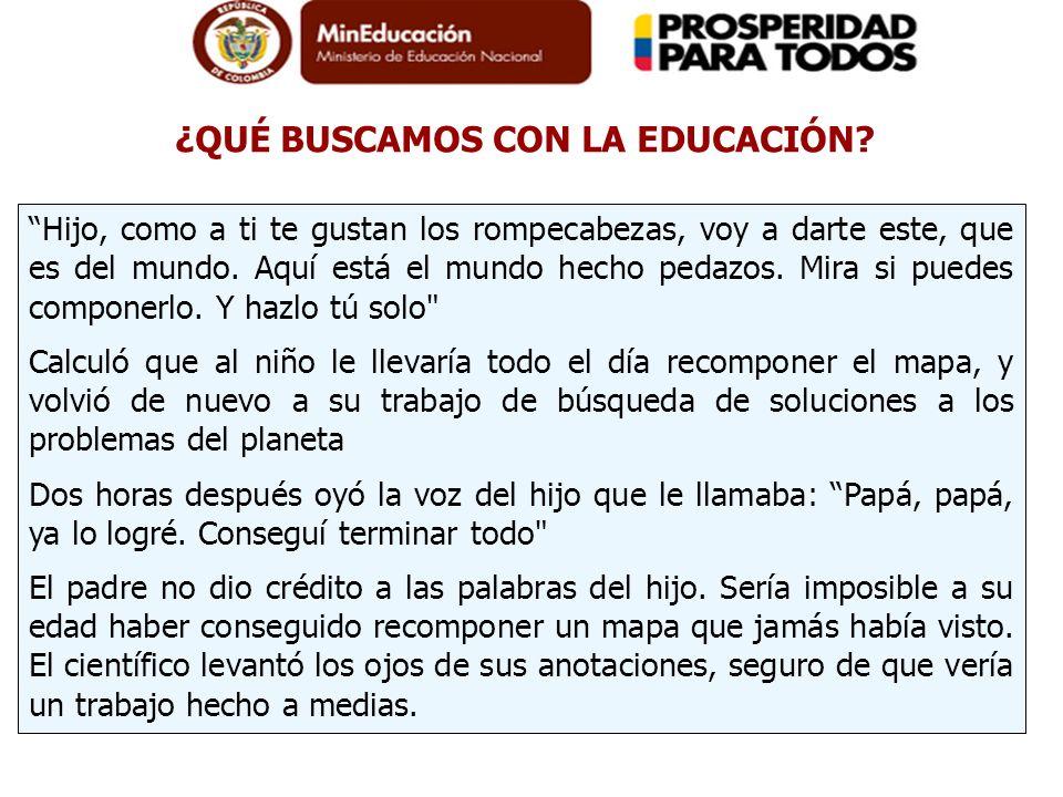 ¿QUÉ BUSCAMOS CON LA EDUCACIÓN