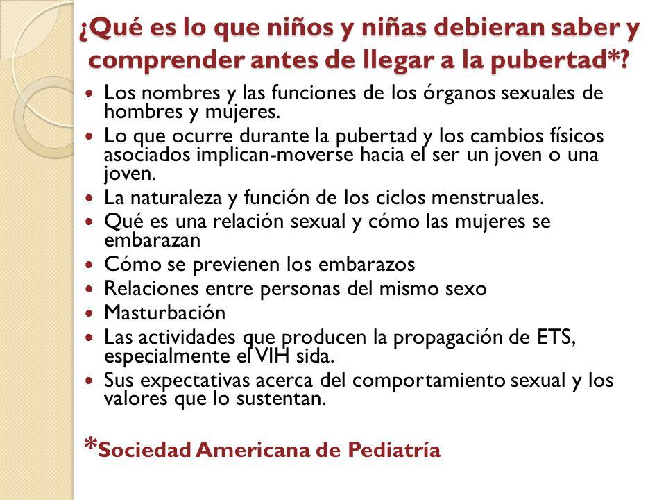 *Sociedad Americana de Pediatría