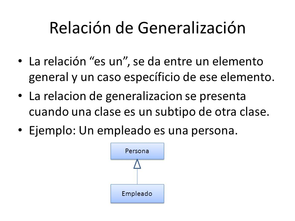 Relación de Generalización