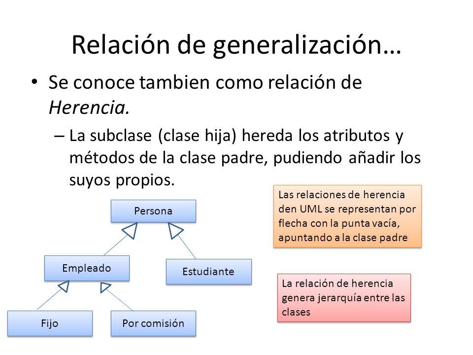 Relación de generalización…