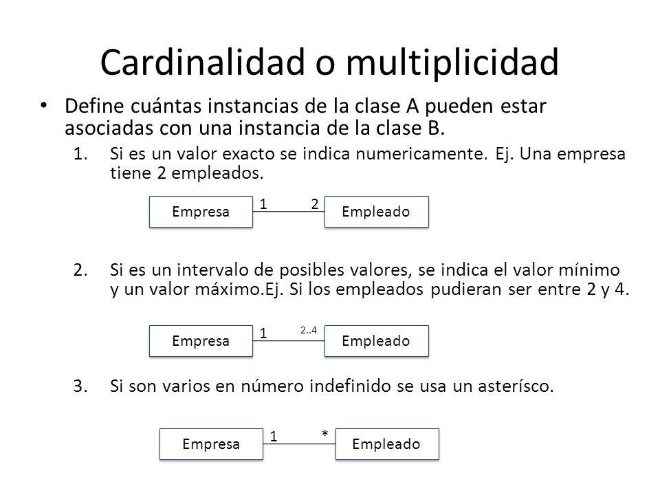 Cardinalidad o multiplicidad