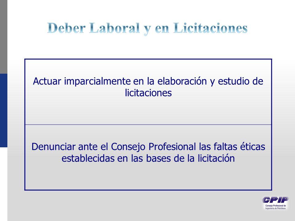 Deber Laboral y en Licitaciones