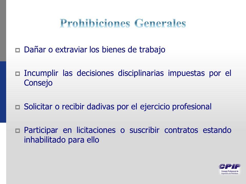 Prohibiciones Generales
