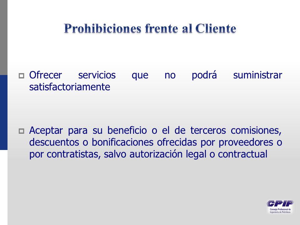 Prohibiciones frente al Cliente