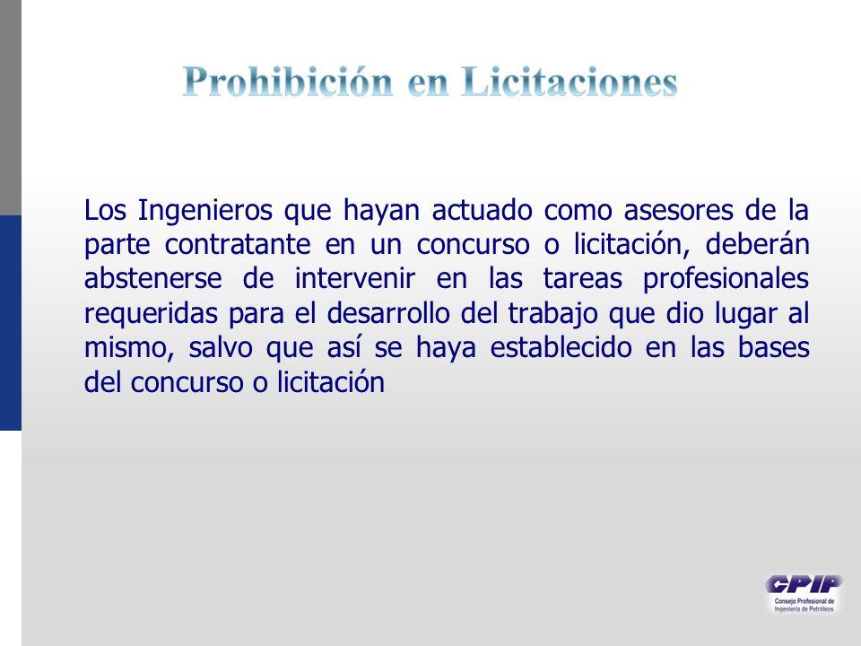 Prohibición en Licitaciones