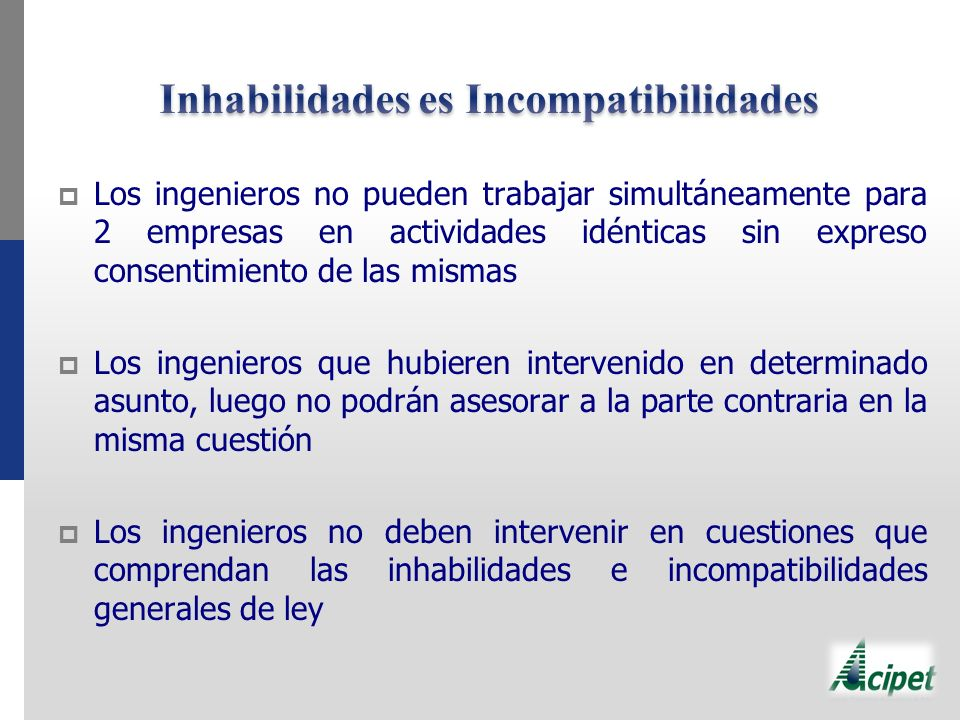 Inhabilidades es Incompatibilidades