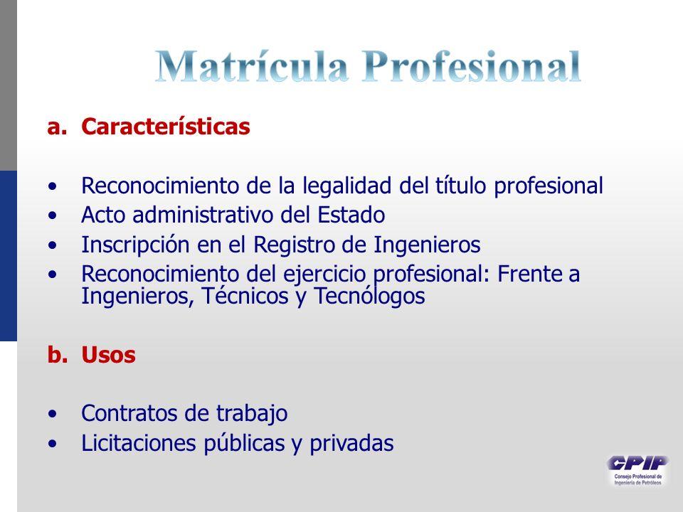 Matrícula Profesional