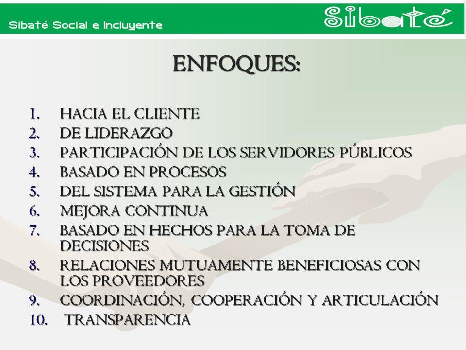 ENFOQUES: HACIA EL CLIENTE DE LIDERAZGO