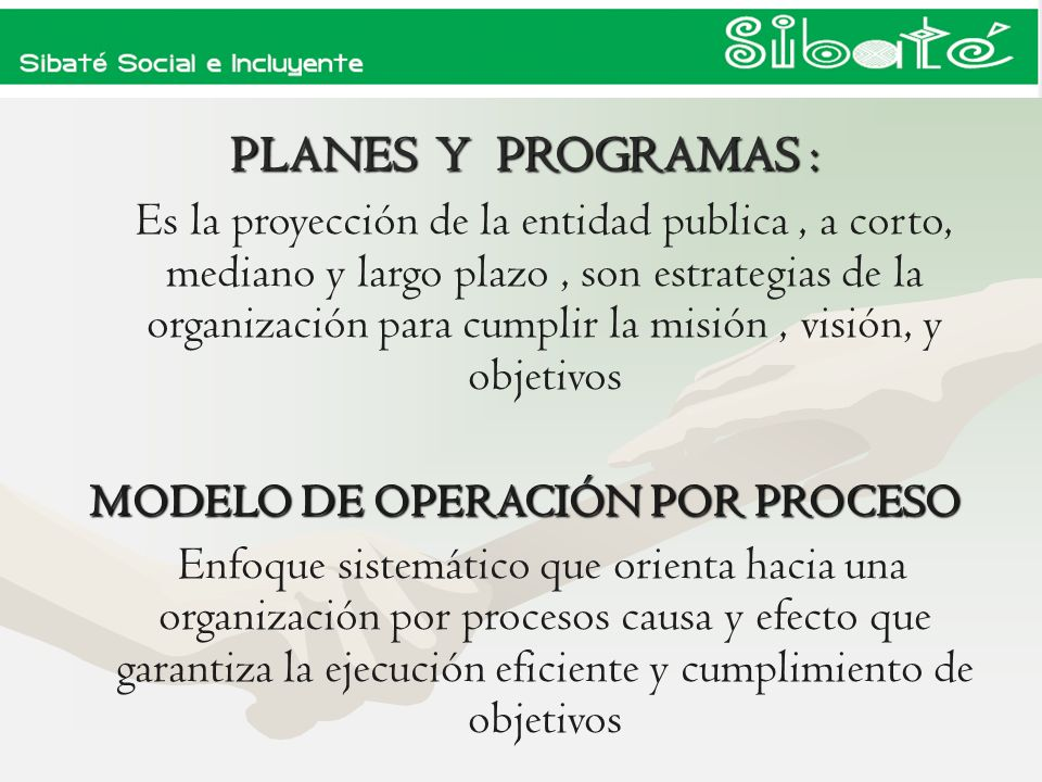 MODELO DE OPERACIÓN POR PROCESO