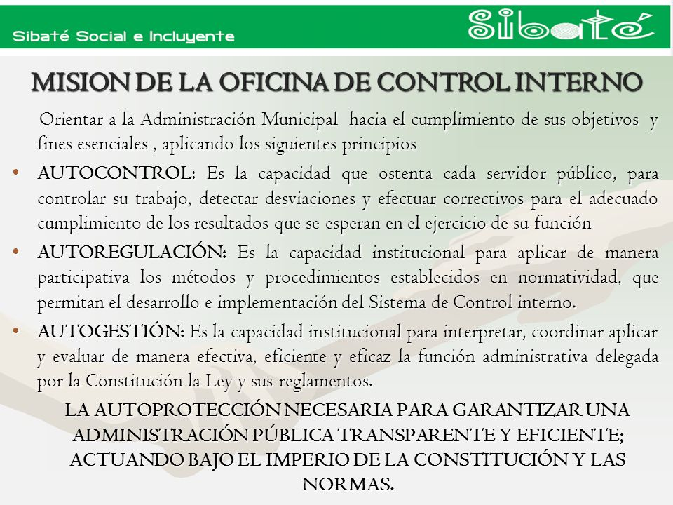MISION DE LA OFICINA DE CONTROL INTERNO