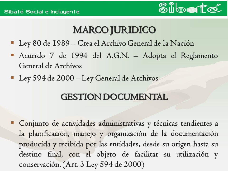 MARCO JURIDICO GESTION DOCUMENTAL