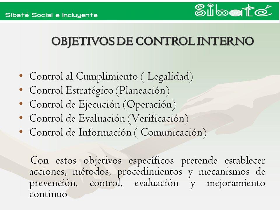 OBJETIVOS DE CONTROL INTERNO