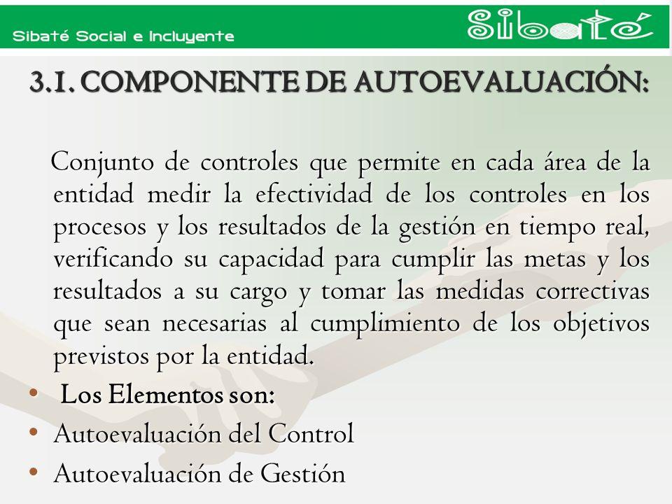 3.1. COMPONENTE DE AUTOEVALUACIÓN: