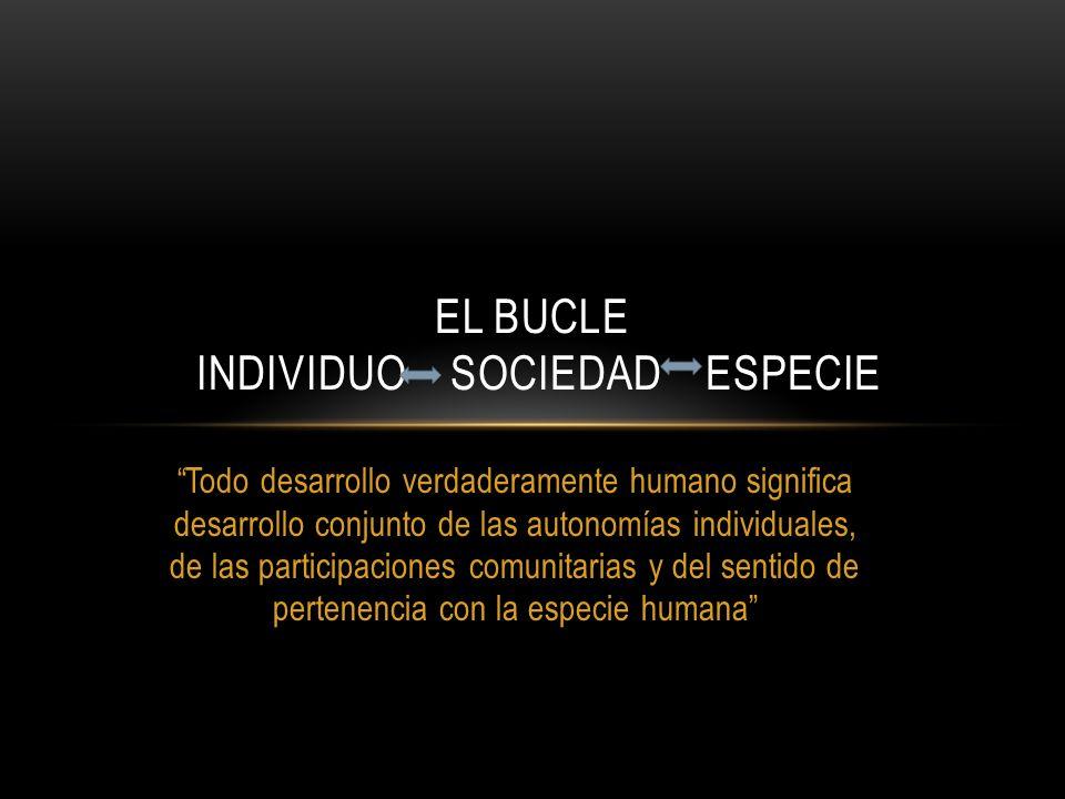 El bucle individuo sociedad especie
