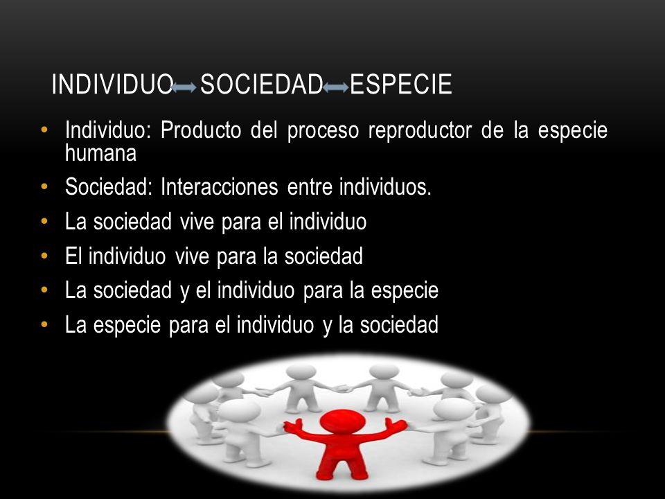 individuo sociedad especie