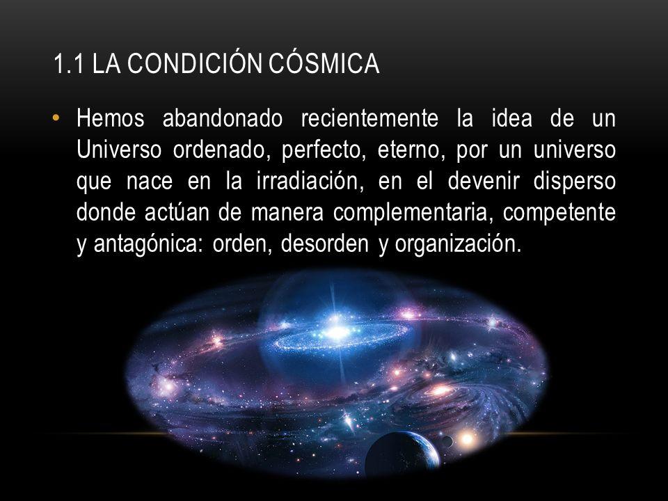1.1 La condición cósmica