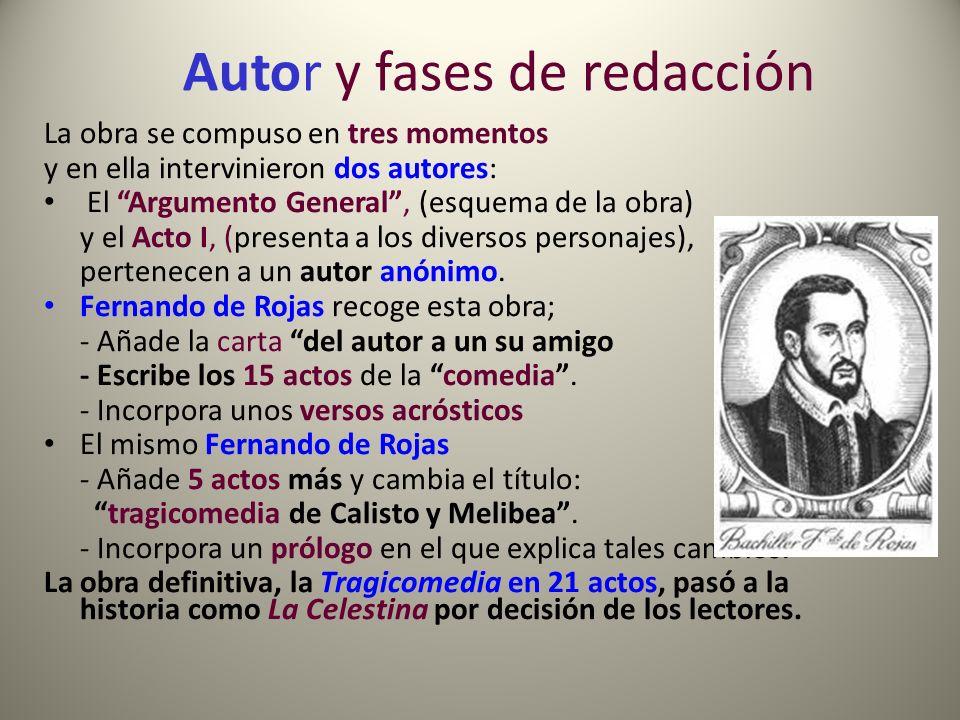 Autor y fases de redacción