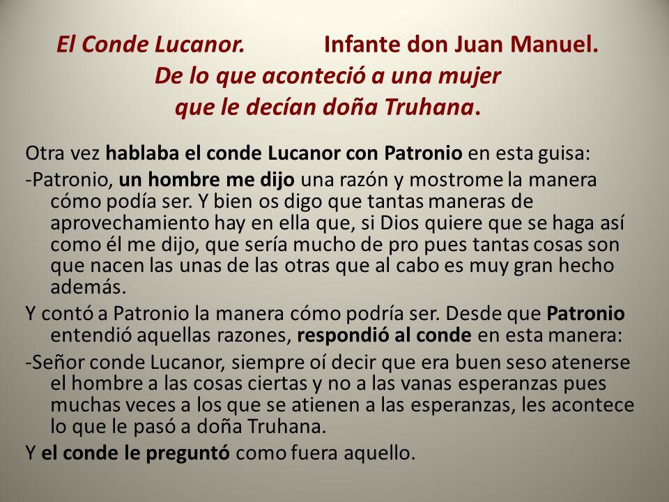 El Conde Lucanor. Infante don Juan Manuel