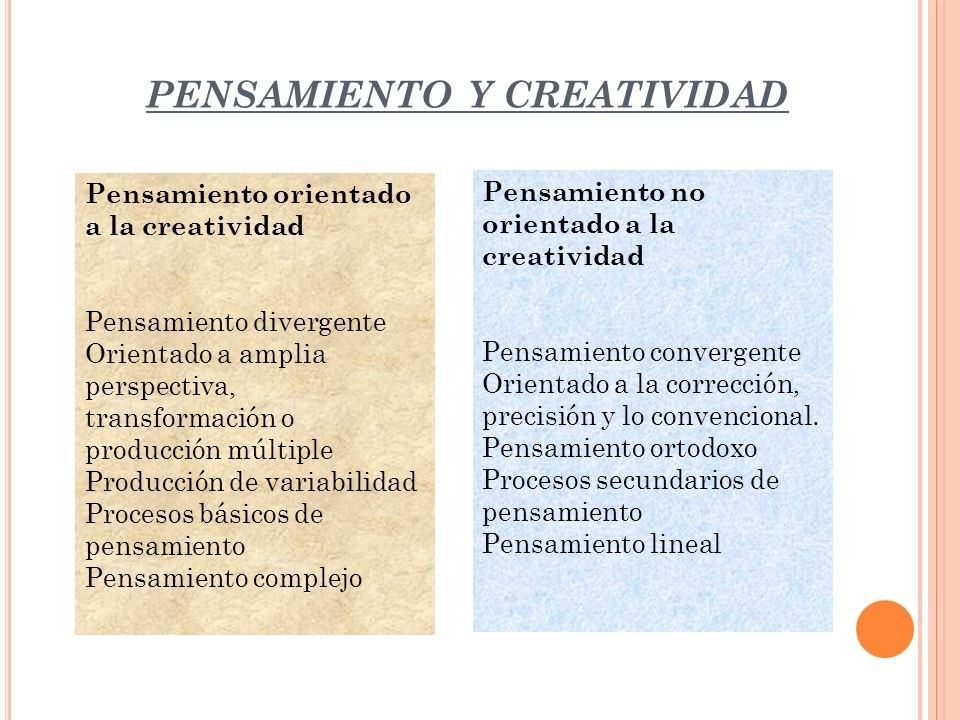PENSAMIENTO Y CREATIVIDAD