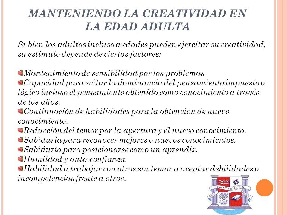 MANTENIENDO LA CREATIVIDAD EN LA EDAD ADULTA