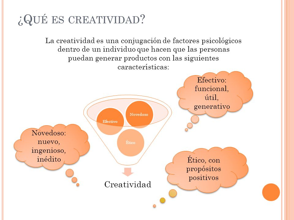 ¿Qué es creatividad